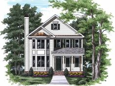 Colonial House Plan with 1992 Square Feet and 3 Bedrooms from Dream Home Source | House Plan Code DHSW32119