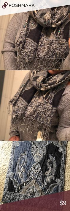 Sequined Winter Scarf Very Detailed! Beautiful Sequins throughout! NWT! Very gorgeous and vintage! collection 18 Accessories Scarves & Wraps
