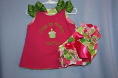 Happy Birthday Dress/Outfit Reversible I want something similar for addy!