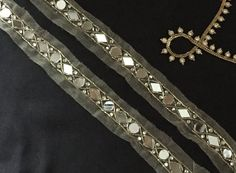 Border Embroidery, Hand Work Embroidery, Lace Saree, Sari, Saree With Belt, Mirror Work Saree, Mirror Trim, Handmade Mirrors, Saree Border