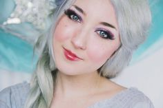 """Transform into a wintery ice queen, inspired by Disney's newest movie, """"Frozen""""! Watch as I show you how to become Elsa, a frosty, fantasy ice queen! Elsa Makeup Tutorial, Skin Makeup, Beauty Makeup, Hair Beauty, Ice Queen Makeup, Frozen Makeup, Makeup Tutorials Youtube, Moda Chic, Purple Eyeshadow"""