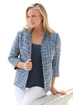 Jessica London Plus Size Jessica London Plus Size Tweed Blazer ♥
