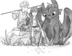 Hiccup and Toothless with Jack Frost ^_^ ^.^ ♡ I give good credit to whoever made this