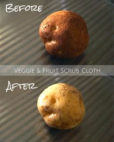 The Norwex Veggie and Fruit Scrub Cloth - Before and After
