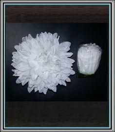 Hlavička chryzantémy 15 cm - biela   antikaeu.sk Coconut Flakes, Spices, Spice