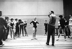 Gene Kelly directing rehearsal with the Paris Opera Ballet
