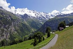 Swiss Alps - Gimmelwald, Bern, Switzerland - There is no connection to the main…