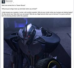 Best moment of my life ever when Starscream replies to me of Facebook!!!!!!!!!!!!!!!!! - Starscream has a Facebook?!  oOo