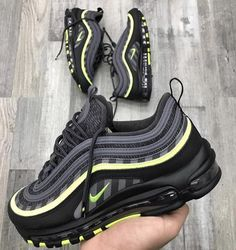 premium selection 72889 87640 NIKE AIR MAX 97 BLACK NEON Sneakers Nike, Sneakers Fashion, Nike Shoes, Nike