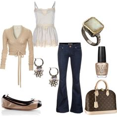 I love the ballerina style wrap top and cute tank! And the earrings are gorgeous!!!