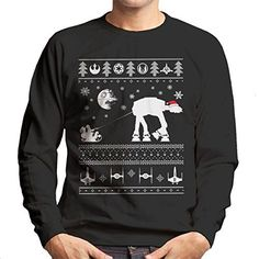 Catégorie Pulls, Christmas Sweaters, Star Wars, Graphic Sweatshirt, Sweatshirts, Fashion, Moda, Fashion Styles, Christmas Jumpers