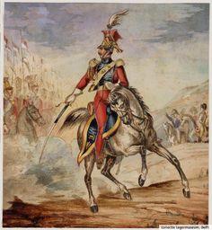 Een officier te paard van het 2e Regiment [...] Lanciers