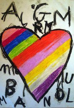 Walentynki Love Is Sweet, Art Lessons, School Ideas, Valentines Day, Color Art Lessons, Valentine's Day Diy, Art Education, Valentine Words, Valentines