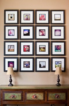I'm attracted to squares. It's not what I want on my walls today, but I'm attracted to them. Sixteen small squares making one big square. Predictable, controlled, and tidy.