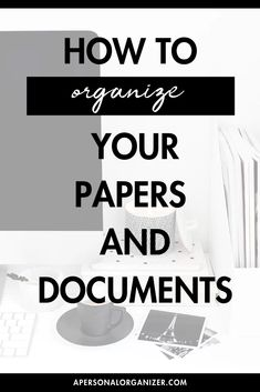"How to Organize Your Papers And Documents  One of the biggest questions we get asked on the blog and on social media is ""how do I organize my paper and documents?!"" Head to the blog to grab our best tips on how to organize all that paper. Home Office Organization, Paper Organization, Auto Business, Business Tips, Weekly Planner Printable, Printable Calendars, College School Supplies, Home Management Binder"