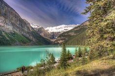 The most beautiful lake I've ever seen.....in Alberta, Canada. Would love to see it again....it's on my bucket list.