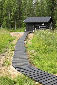 Log Cabin Exterior, Living Etc, Bedroom Colors, House Plans, Porch, Provence, Cottage, Villa, Building