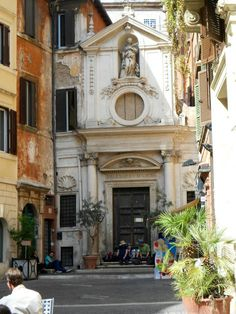 Squished church, Rome, Italy