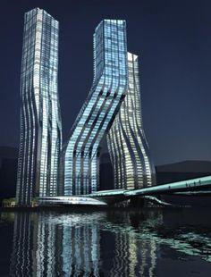 Dancing Towers. Dubai.