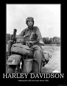 Harley Davidson & military.  Goes back to WW I, actually.  But this WLA is cool.