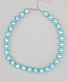 Loving this Turquoise Pearl Necklace on #zulily! #zulilyfinds