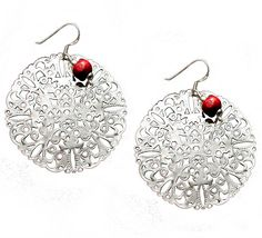 Dial of Ahaz Earrings - Silver. http://store.nightlightinternational.com/product_p/ec058b.htm $23.99. For Freedom's Sake.