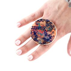 Ceramic Ring Statement Ring  big ring fashion ring by StudioLeanne