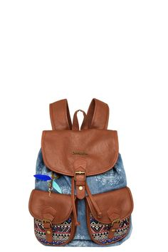 Denim backpack | Desigual Dakar African Art