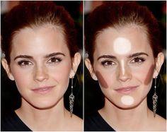 como iluminar o rosto oval de Emma Watson