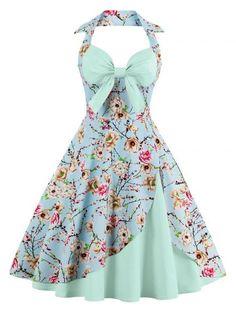 GET $50 NOW | Join RoseGal: Get YOUR $50 NOW!http://www.rosegal.com/vintage-dresses/halter-floral-print-pin-up-1089362.html?seid=8493483rg1089362