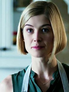 "Rosamund Pike as Amy Elliot Dunne in ""Gone Girl""  Oh look, that's my screencap from tumblr."