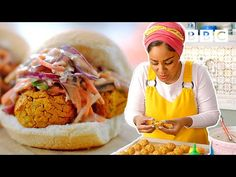 Burger Recipes, Veggie Recipes, Vegetarian Recipes, Cooking Recipes, Beans Recipes, Healthy Recipes, Falafels, Nadiya Hussain Recipes, Falafel Burgers