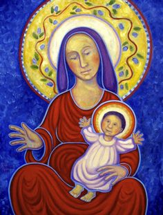 madonna and child. BEAUTIFUL ART WORK ON THIS BLOG - this piece is not on the page.