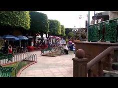 la banda tocando en la plaza fiestas pueblo nuevo,gto 2015 - YouTube