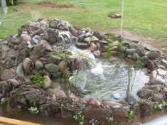 Small Waterfall Pond Landscaping For Backyard Decor Ideas 36