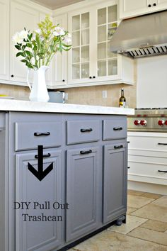 Kitchen Island DIY Pull Out Trashcan