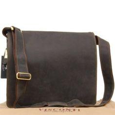 8c474521a Visconti XL Messenger Bag A4 Plus - Hunter Leather -16054 - Harvard XL -  Oil Black: Amazon.co.uk: Shoes & Bags