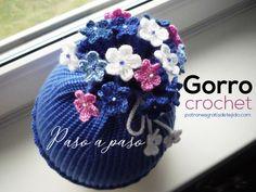 Super Crochet Baby Beanie Posts Ideas C Baby - Diy Crafts Crochet Flower Hat, Crochet Scarf Easy, Crochet Baby Beanie, Crochet Kids Hats, Knitted Hats, Loom Knitting, Baby Knitting Patterns, Knitting For Kids, Crochet Patterns