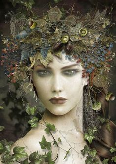 """"""" The forest queen """". very reminiscent of the iconic Kate Bush image, Under the Ivy."""