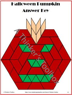 Pattern Blocks Holidays Puzzles by A Thinker's Toolbox (Easter, Thanksgiving, Halloween, Christmas, St. Patrick's, Valentine)