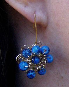 wire crochet earring