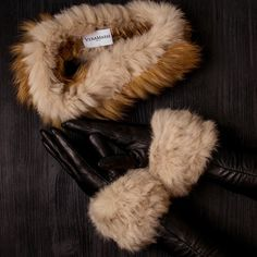 d259e7f2a82 New colors for new season Headband Double Tour Cuffs Set Fur Fox Winter  Warm Gift for