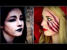My \'Little Red Riding hood\' themed Halloween makeup. I used wax ...