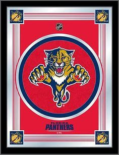 97c1362ed28 Florida Panthers Holland Bar Stool Co. Collector Red Logo Mirror (17