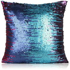Mermaid Color Mixing Sequins Beads Gradient Fashion Leisure Sofa C... ($19) ❤ liked on Polyvore featuring home, home decor, throw pillows, home textiles, sequins pillows, throws & pillows and mermaid home decor