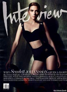 Scarlett Johansson Interview Magazine December 2011. #Cover #Fashion #Magazine