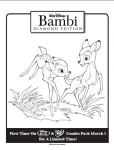 These free downloadables and printables are perfect for a rainy-day activity or print them for party coloring fun or birthday party diy placemats! Perfect for any Bambi-themed birthday party or tea.