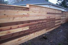 Japanese style horizontal fence | Deck Masters, llc - Portland, OR