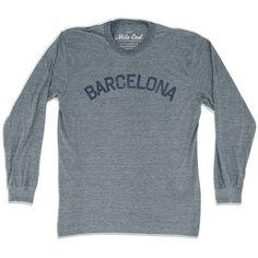 Barcelona City Vintage Long-Sleeve T-shirt