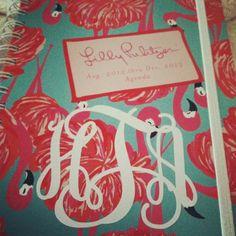 Lilly Pulitzer agenda #monogram #lilly #pulitzer
